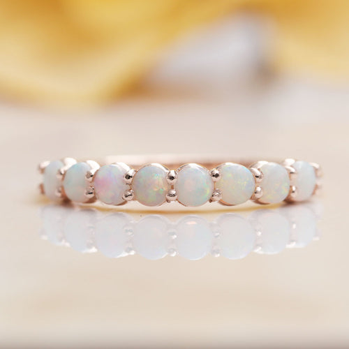 14kt Gold & Opal Wedding Band ,[product vendor],JewelStreet