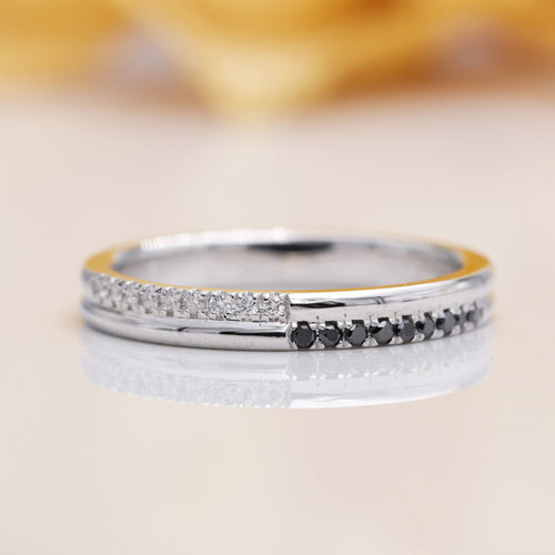 14kt Gold Halfway Diamond Wedding Band ,[product vendor],JewelStreet