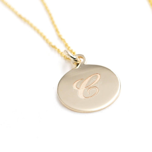 14kt Gold Personalized Initial Necklace ,[product vendor],JewelStreet