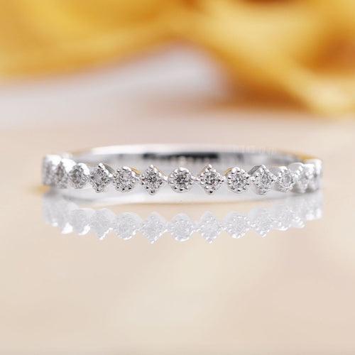 14kt Gold Halfway Eternity Diamond Wedding Band ,[product vendor],JewelStreet