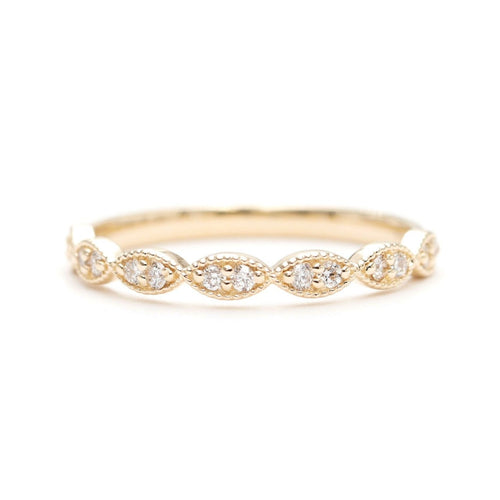 14kt Gold Half Eternity Diamond Stacking Wedding Ring ,[product vendor],JewelStreet