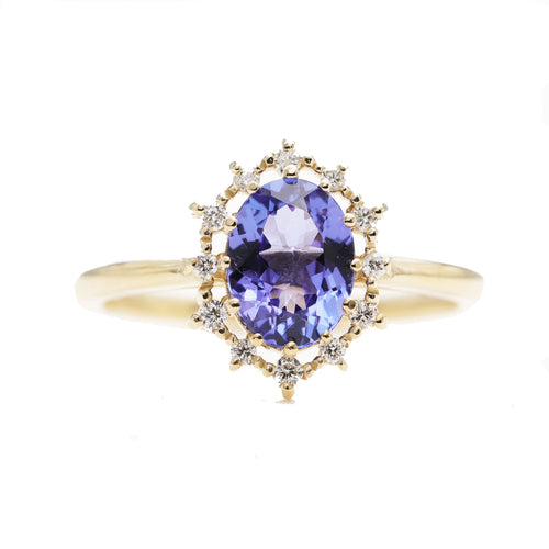 14kt Gold Natural Oval Tanzanite Engagement Ring ,[product vendor],JewelStreet
