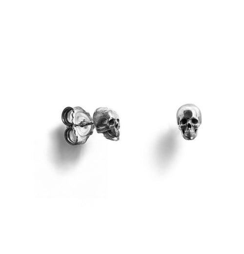 Sterling Silver Skull Studs ,[product vendor],JewelStreet