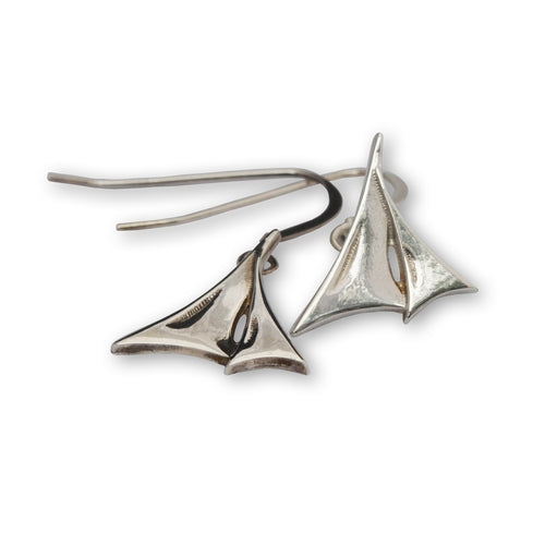 Silver Windward earrings ,[product vendor],JewelStreet