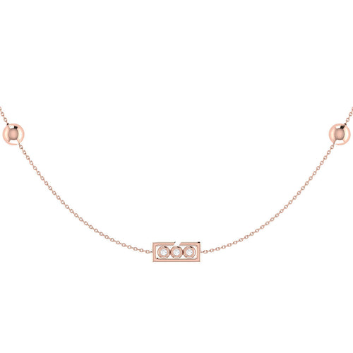 Rose Gold Plated Traffic Light Necklace ,[product vendor],JewelStreet