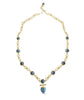Yellow Gold Plated Twisted Rays Turquoise Necklace ,[product vendor],JewelStreet