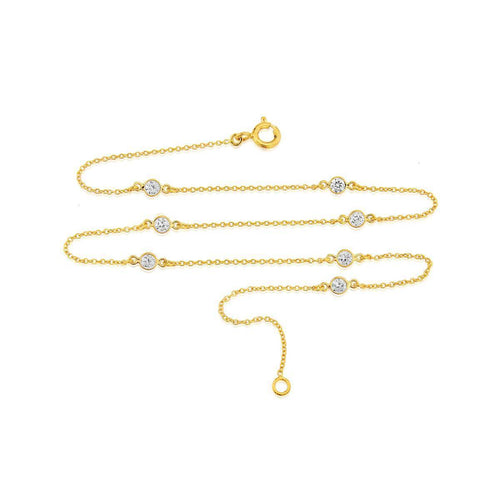 Yellow Gold Plated Sofia Short Necklace ,[product vendor],JewelStreet