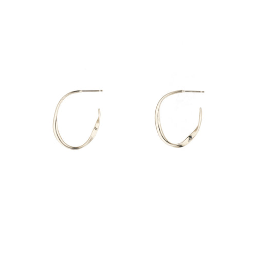 Silver Nouveau Oval Hoops ,[product vendor],JewelStreet