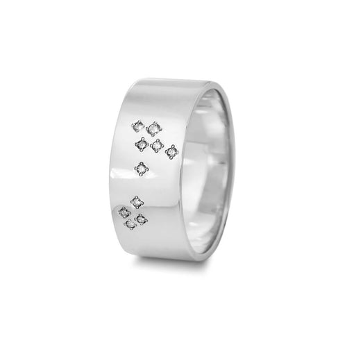Sterling Silver Pisces Zodiac Constellation Ring ,[product vendor],JewelStreet