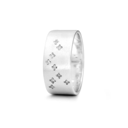 Sterling Silver Sagittarius Zodiac Constellation Ring ,[product vendor],JewelStreet