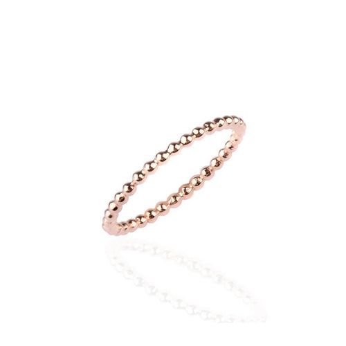 Skinny Bead Eternity Ring Rose Gold ,[product vendor],JewelStreet