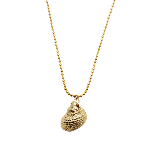 Gold Snail Shell Necklace ,[product vendor],JewelStreet
