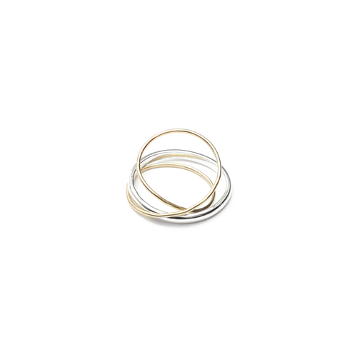 9kt Gold & Sterling Silver Orbit Ring ,[product vendor],JewelStreet