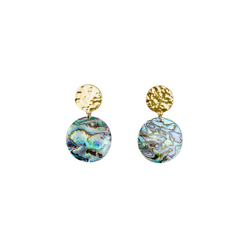 Sun and Paua Shell Statement Earrings ,[product vendor],JewelStreet