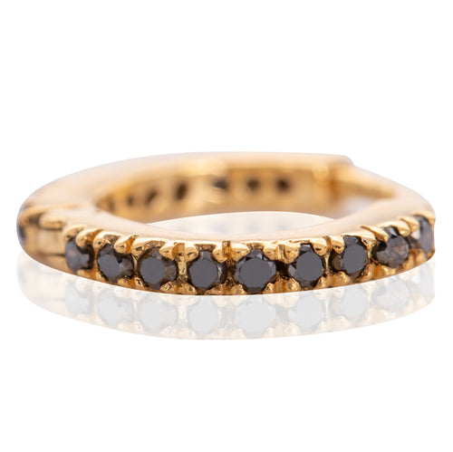 9kt Gold Tiny Hoops Gold & Black ,[product vendor],JewelStreet