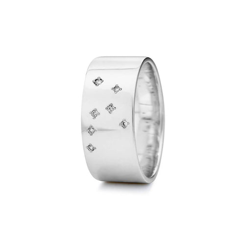 Sterling Silver Virgo Zodiac Constellation Ring ,[product vendor],JewelStreet