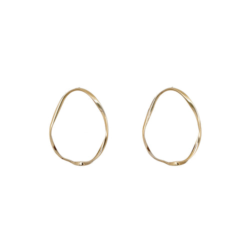 Sterling Silver Twist Hoop Earrings ,[product vendor],JewelStreet