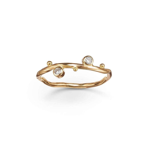 Gold & Two-Diamond Seafire Ring | Bergsoe ,[product vendor],JewelStreet