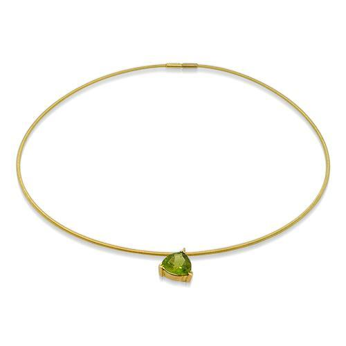 18K Yellow Gold Necklace with Peridot ,[product vendor],JewelStreet
