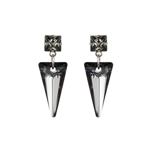 Sterling Silver Plated Shard Night Earrings ,[product vendor],JewelStreet