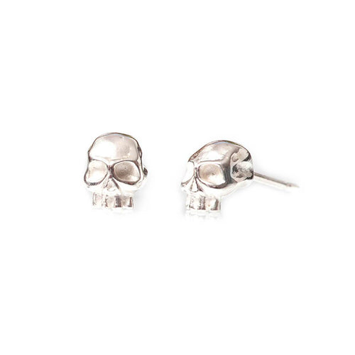 Sterling Silver Skull Stud Earrings ,[product vendor],JewelStreet