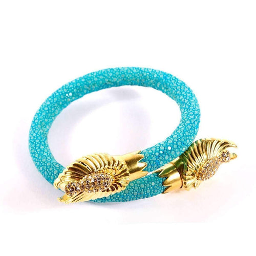Angel Wing End Caps Bracelet - Guidance-BuDhaGirl-JewelStreet US