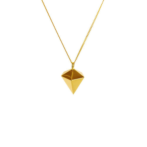 Sterling Silver & Gold Mini Decagem Origami Necklace