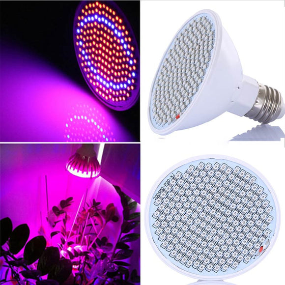20W 166 Red 34 Blue LED Grow Light Bulb E27 Plant Lamp Garden Greenhouse Hydroponics Plant Seedling Growing Light AC85-260V