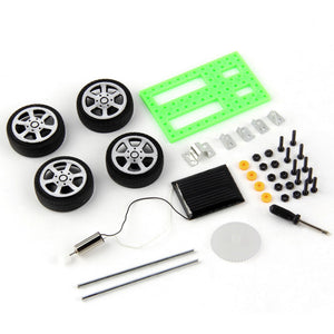 1pcs Mini Solar Powered Toy DIY Car Kit Children Educational Gadget Hobby Funny Hot Worldwide