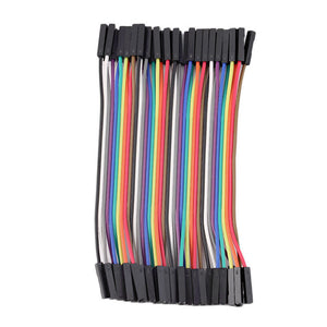 40pcs/Row 10cm 2.54mm Female to Female Wire Jumper Cable 1P-1P For Arduino Wholesale