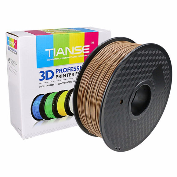 TIANSE Imported Wooden Color 3D Printing Consumables 1.75mm Wire 3D Printer Consumables Materials PLA+Native Wood Flour