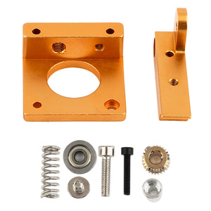 Left Hand 3D Printing Accessories MK8 Extruder Aluminum Block DIY Kit  Single Nozzle Extrusion Head Block For Reprapi3