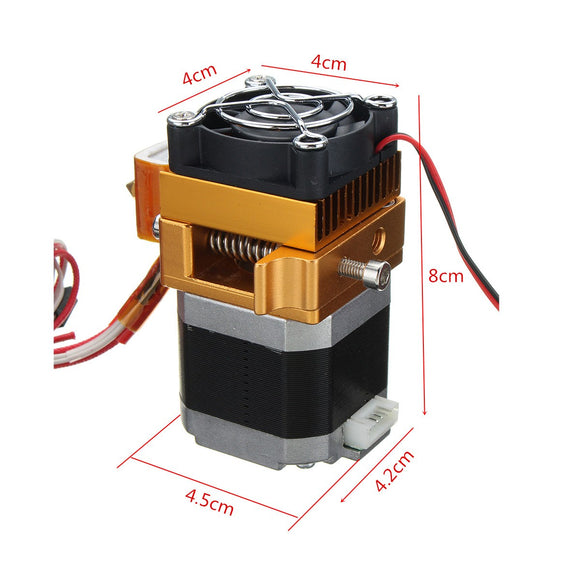 NEW 3D Printer Head MK8 Extruder J-head Hotend Nozzle 0.4mm Feed Inlet Diameter 1.75 Filament Extra Nozzle +1 meter motor cable