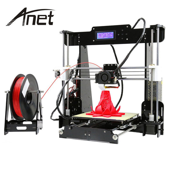 Anet Classic Aluminium Extrusion 3D Printer Acrylic Frame Mechanical kit 3d printing 3 Materials LCD Filament Aluminum Structure