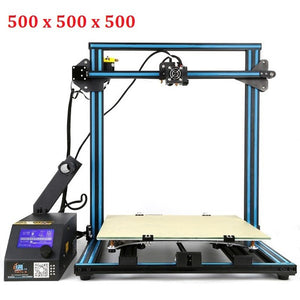 New Arrival Creality 3D CR-10 Large Printing Size 400*400*400 mm DIY Desktop 3D printer Kit Multi-type Filament with Heated Bed