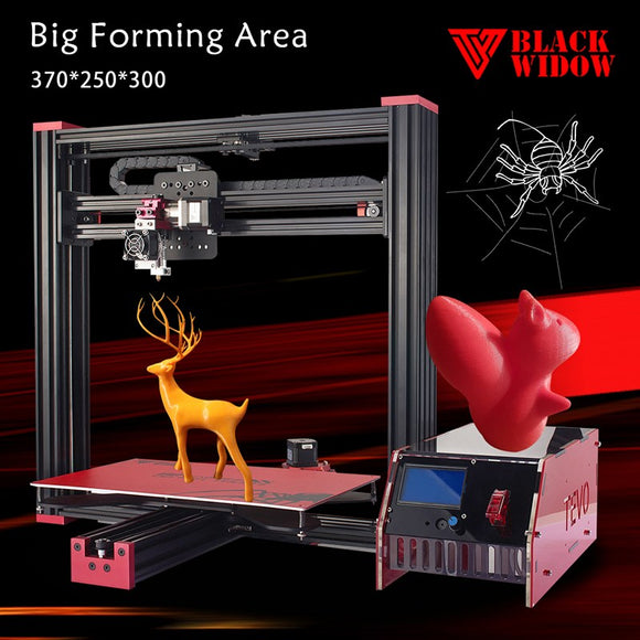 1 Set Tevo Black Widow 3D Printer Kit Impresora 3D Large Printing Size 370*250*300mm Aluminium Extrusion-GIFT