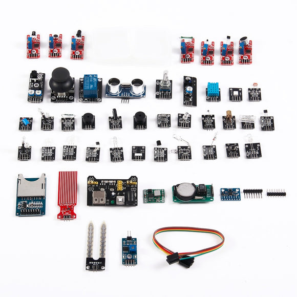 45 in 1 Box Sensor Kit Set Module Suite Variety Compatible for Arduino Upgraded Version Basic Component And Sensors