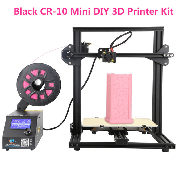 Black CR-10 Mini DIY 3D Printer Kit 300*220*300mm Large Printing Size 1.75mm 0.4mm Nozzle