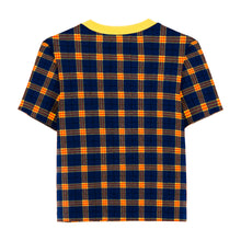Load image into Gallery viewer, Velour Plaid Baby Tee