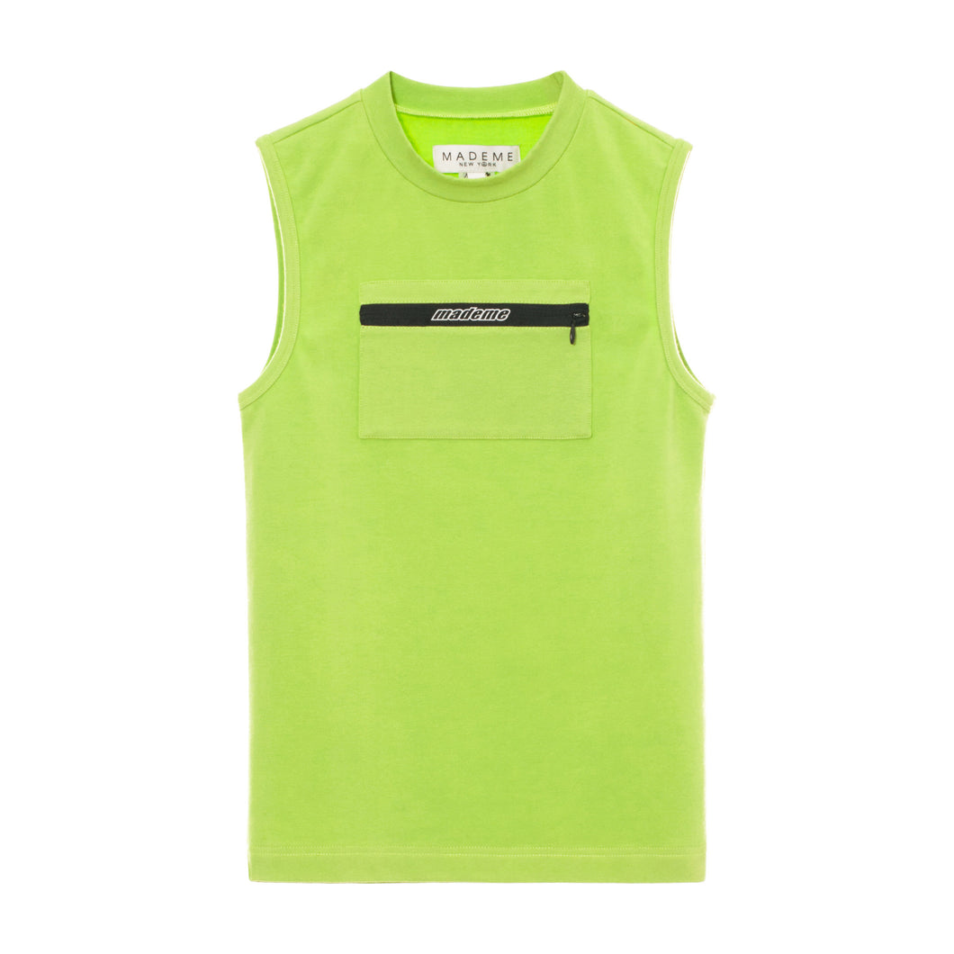 Chest Pocket Sleeveless Top
