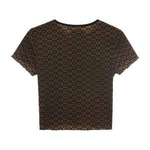 Checkered Logo Rib Top