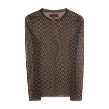 Load image into Gallery viewer, Checkered Logo Mesh Long Sleeve Top