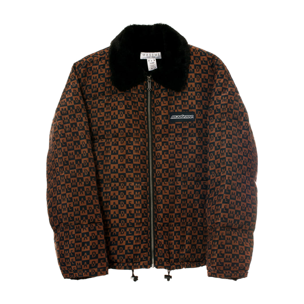 Checkered Logo Puffer Jacket