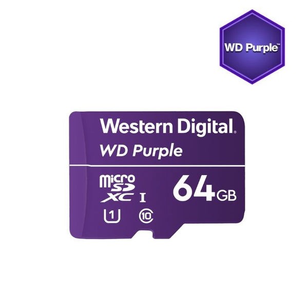 WD Purple surveillance 64GB microSDXC