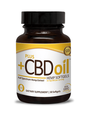 Plus CBD Oil Full Spectrum Hemp Extract Gold (15mg CBD Per Serving)
