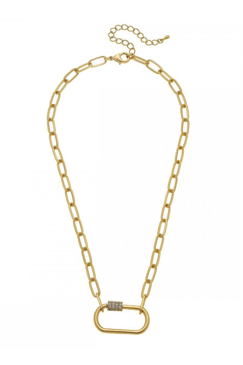 Carabiner Lock Chain Necklace