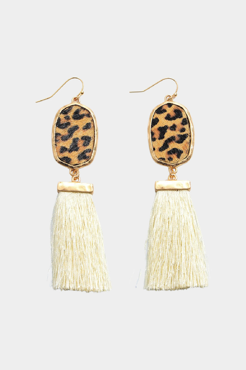 Leopard Fringe Earrings - Embellish Your Life