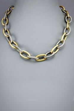 2 Tone Link Necklace