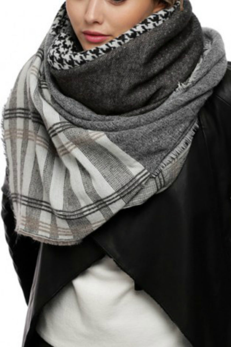 Plaid/Houndstooth Blanket Scarf