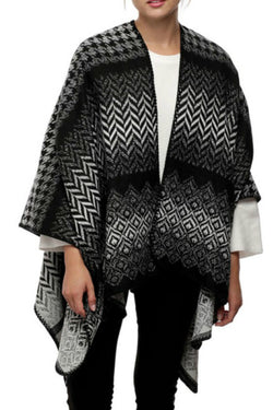 Herringbone & Houndstooth Wrap